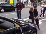BMW M6 owner destroys car at the Frankfurt auto show