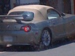 BMW Z4 with biplane rear wing, from BuggBlog