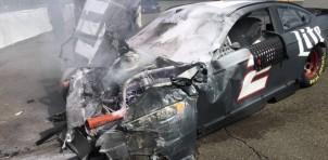 Brad Keselowski crashes at 165mph