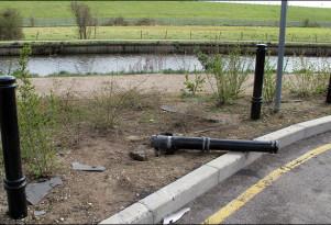 broken guardrail