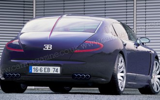 Bugatti Royale (Or Bordeaux) Rendered