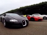 Bugatti Veyron and Ferrari LaFerrari drag race
