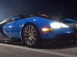 Bugatti Veyron at drag strip in Florida