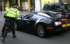 Bugatti Veyron Pulled Over By Bike Cop: Video