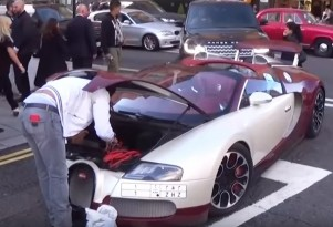 Bugatti Veyron suffers breakdown on the streets of London