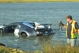 Bugatti Veyron that crashed into a lake in 2009