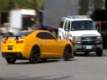 Bumblebee Camaro crashes into real police car