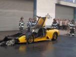 Burnt Lamborghini Murcielago