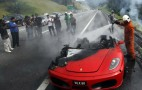 Ferrari F430 In Malaysia Left In Smoldering Heap After Fire