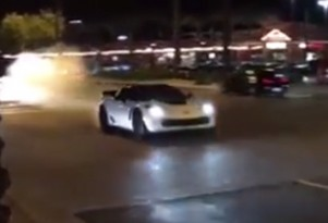 C7 Chevrolet Corvette Z06 moments before crash