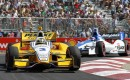 Caastroneves leads Sato - IZOD IndyCar Series photo/LAT USA