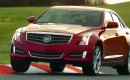 Cadillac's ATS, cornering the Nürburgring at the limit.