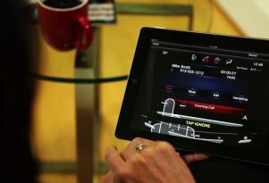 Cadillac's CUE iPad app.