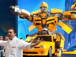 Cake Boss crew build 2,000 pound Bumblebee Camaro cake