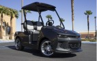 Cruise the course in an electric Camaro golf cart