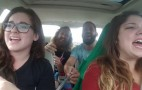 Car Sing-A-Long Turns Into Blown Tire Ride-A-Long: Video