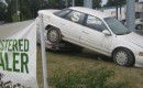 Cash for Clunkers banner with Mercury Sable, Albany, New York