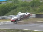 Chevrolet Camaro GT4 race car crashes in 2011 Dutch Supercar Challenge