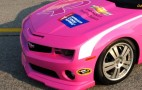 Pink Chevrolet Camaro NASCAR Pace Car Rolls Out For Charity