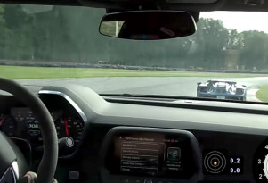 Camaro ZL1 and Ford GT on race track