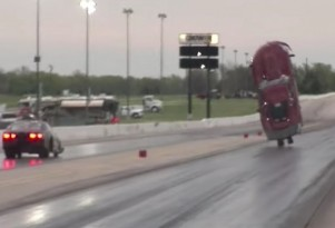 Corvette Dragster crash
