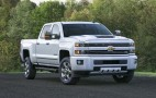 New hood scoop feeds cool air to 2017 Chevy Silverado HD diesel truck
