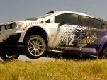 Chevrolet Sonic RS rally car on the set of Transformers 4 movie