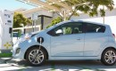 Chevrolet Spark EV at CCS fast charging station in San Diego.
