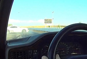 Chevy Camaro ZL1 narrowly avoids disaster at the drag strip