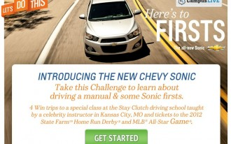 2012 Chevrolet Sonic Gears Up For 'Stay Clutch' Contest