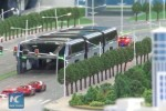 "China's ""Land Airbus"" will let you drive directly under a bus"