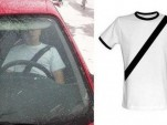 Chinese safety belt t-shirt