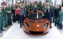 Chris Evans visits Lotus factory in Hethel