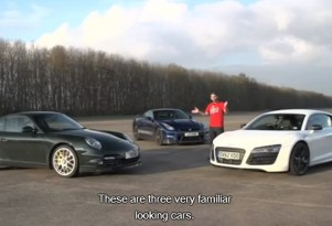 Chris Harris and three of the worlds best sports cars