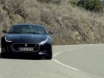 Chris Harris behind the wheel of the 2015 Jaguar F-Type Coupe