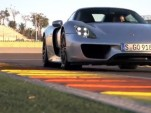 Chris Harris behind the wheel of the Porsche 918 Spyder