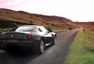 Chris Harris drives his new Ferrari 599