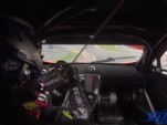 Chris van der Drift loses steering and crashes his MP4-12C GT3 at Eau Rouge