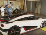 Christian von Koenigsegg and Jay Leno with the Koenigsegg One:1