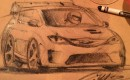 Chrysler Pacific Hellcat sketch - Image via Ralph Gilles