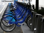 CitiBike NYC racks in Manhattan, by Margaret Bedore (CC 3.0)