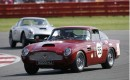 Classic Aston Martins at the Silverstone circuit