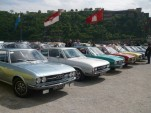 Classic Audi 100 cars at meet in Koblenz, Germany, May 2013