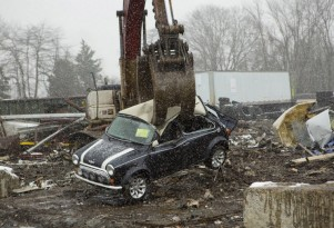 Classic Mini crushed by U.S. Customs as part of Operation Atlantic