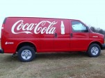 Coca-Cola Chevrolet Express van with XL Hybrids conversion