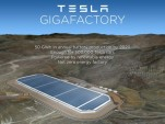 Computer-generated image of proposed Tesla Motors Gigafactory