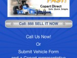 Copart's Sell My Car app