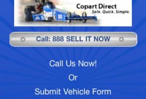Copart's Sell My Car app