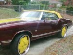 Craigslist 1971 Oldsmobile Cutlass Convertible Donk