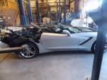 Crashed 2014 Chevrolet Corvette Stingray